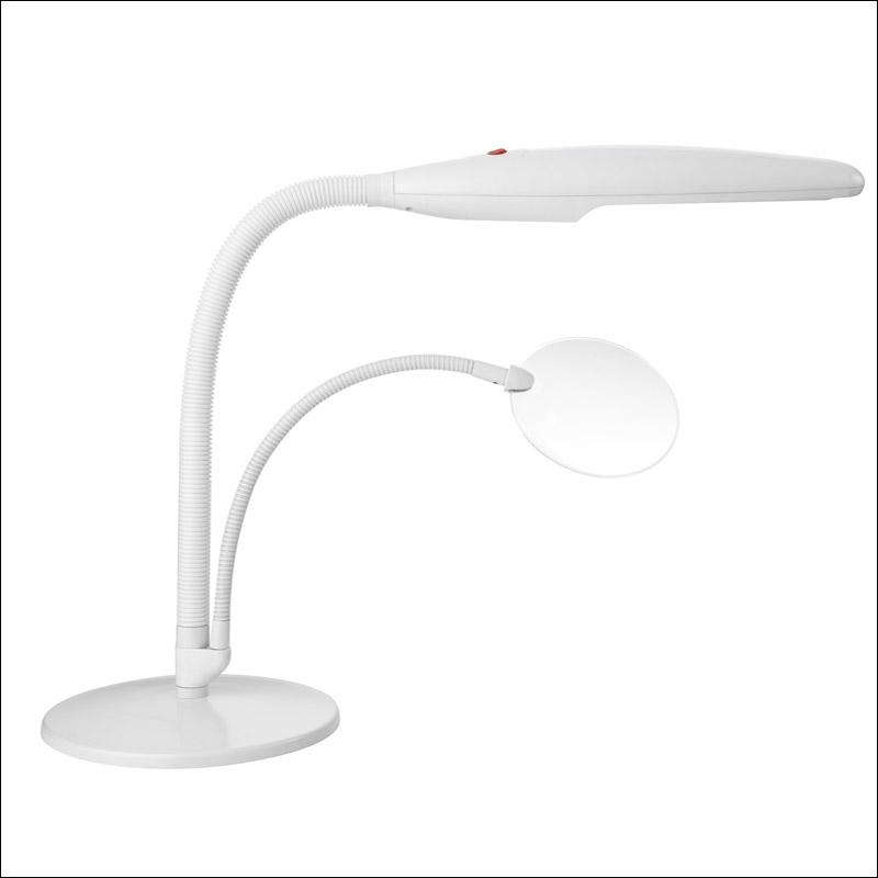 lampe daylight de travail blanche daylight dl e23020 sur broderies et compagnie. Black Bedroom Furniture Sets. Home Design Ideas