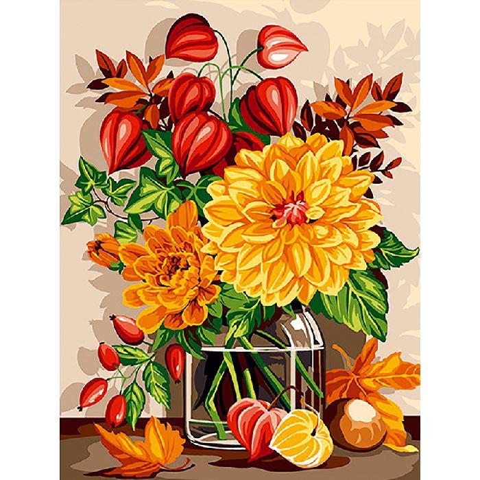 Canevas bouquet d 39 automne seg sur broderies et - Bouquet d automne ...