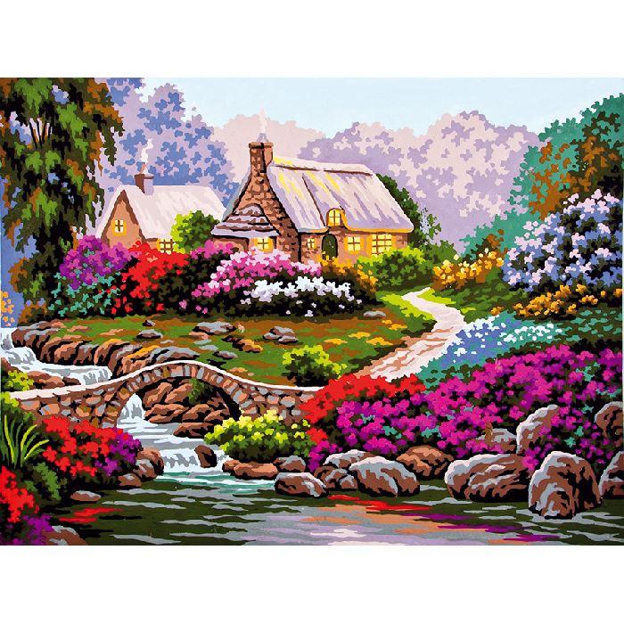 Canevas cottage collection d 39 art sur broderies et - Maison du canevas broderie ...