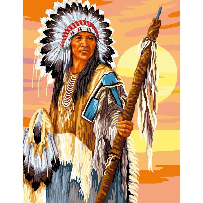 Canevas l 39 indien luc cr ation sur broderies et compagnie - L indien boutique paris ...