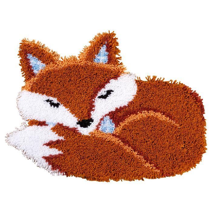 Tapis renard dormant vervaco sur broderies et compagnie - Toile a canevas pour tapis ...