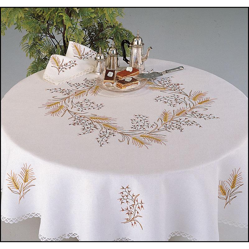 Fol tre nappe rectangulaire point de broderie margot 9054 broderies cie - Nappe de table rectangulaire ...