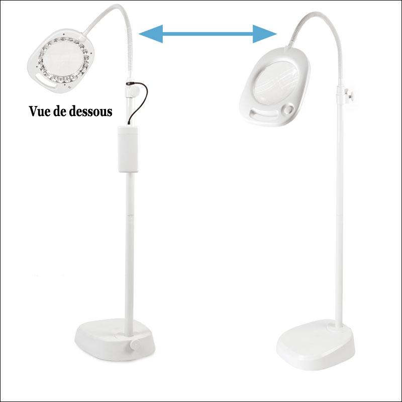 GRCFPL04E Lampe loupe de table ou sur pied 2 5 Incroyable Lampe Led Sur Pied Ojr7