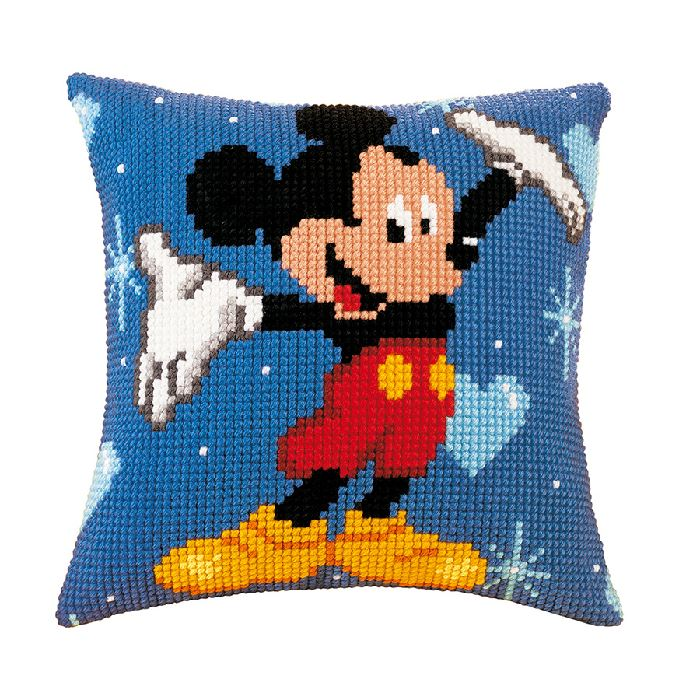 Kit Coussin Point de Croix Mickey - Collection Disney Mickey Mouse - Vervaco VE.0014602 ...