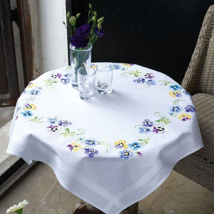 Nappe carrée Les plus belles violettes Vervaco VE.0145232 sur ...