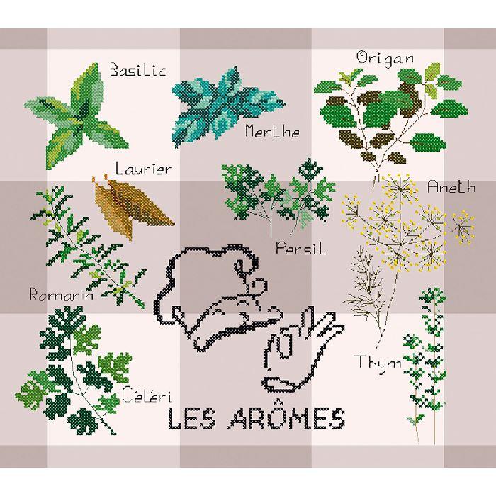 Broderie point de croix Les arômes Marie Coeur 1711.4796 - Broderies & Cie