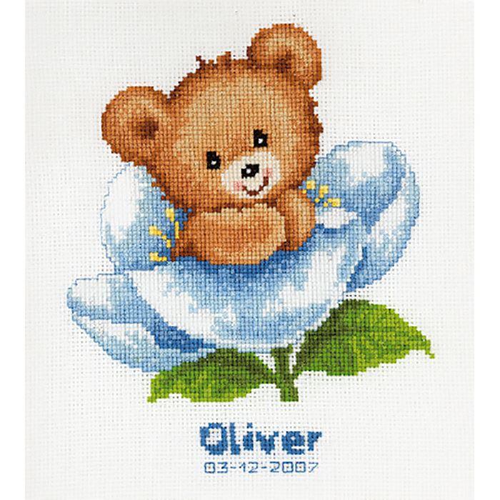 Naissance fleur kit Broderie Point de Croix Vervaco VE2002.70042 - Broderies & Cie