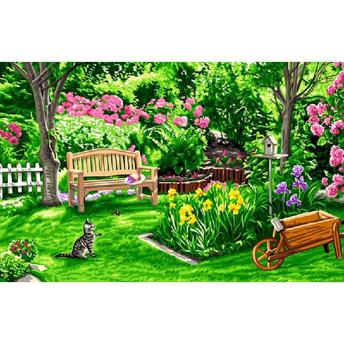 canevas c t jardin royal paris sur broderies et compagnie. Black Bedroom Furniture Sets. Home Design Ideas