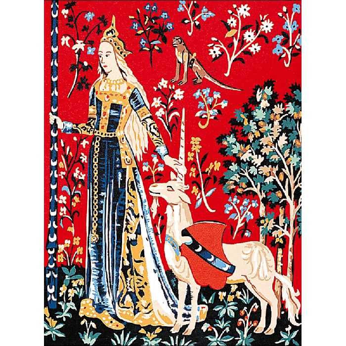 Lady with the Unicorn /'I/'Ouïe Margot de Paris Tapestry//Needlepoint Canvas
