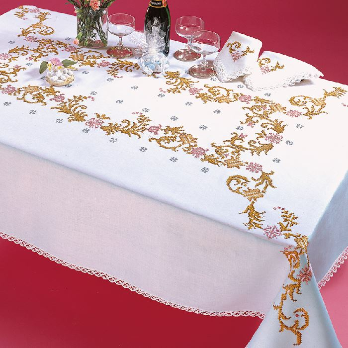 Favorite Nappe Rectangulaire Imprimee Point De Croix Margot 7872