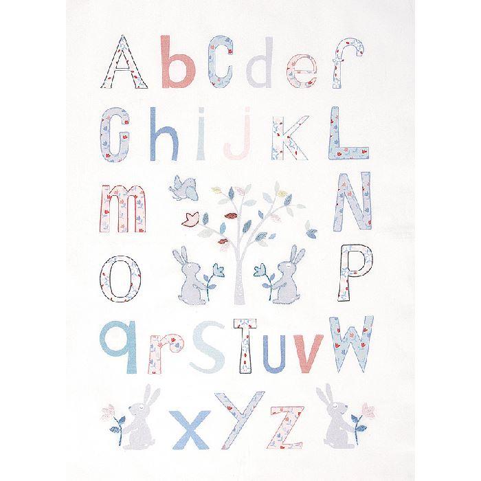 Kit Abecedaire Broderie Traditionnelle Alphabet Folk Dmc Broderies Cie