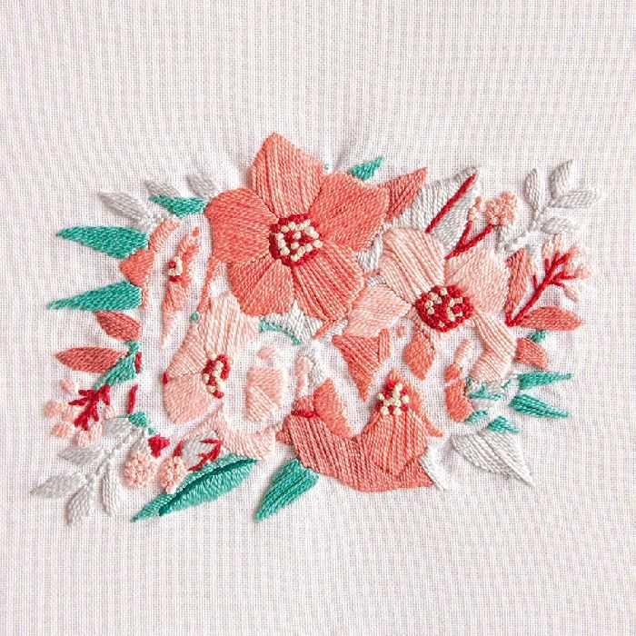 Kit Broderie Traditionnelle Fleurs de l\u0027amour , DMC