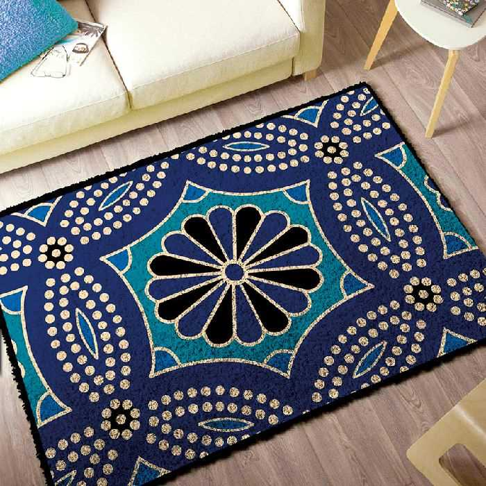 Kit Tapis Point Noue Tapis Bleu Smyrnalaine 3967 Broderies Cie