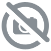 Coussin Point de Croix - Coquelicots rouges - Collection d'art